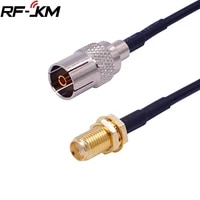 rg174 cable iec pal dvb t rf coaxial cable tv to sma connector tv female to sma female jack pigtail cable