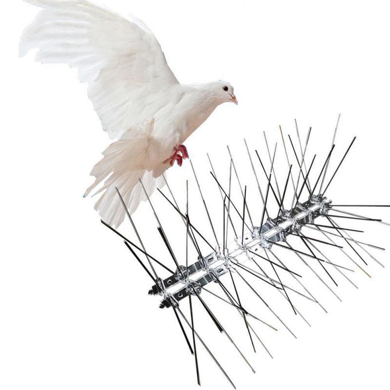 ¡Oferta! Púas repelentes de aves de acero inoxidable de 25cm, herramienta de prevención para aves y palomas respetuosa con el medio ambiente, para vallas de aves pequeñas