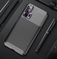 for huawei honor 20 9x pro carbon fiber silicon soft case for honor 8x max note10 tpu anti fall case