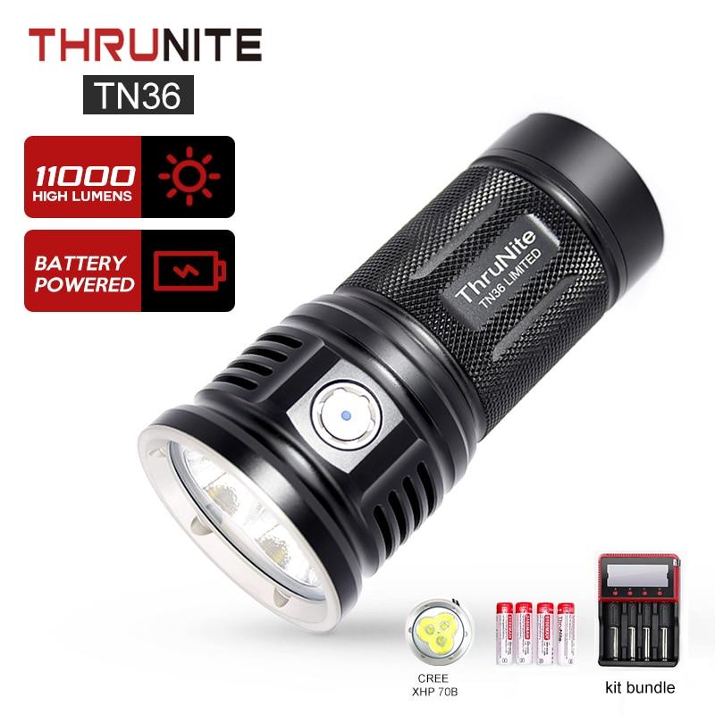 thrunite tn36 lanterna edicao limitada 11000 lumens cree xhp 70b led poderosa inundacao