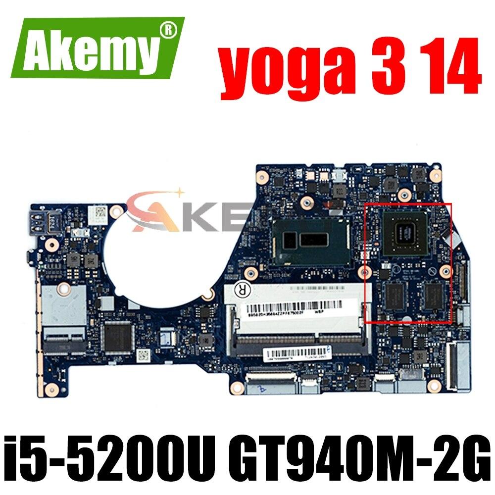 NM-A381 لينوفو اليوغا 3 14 اللوحة المحمول nm-a381 i5-5200U CPU GT940M-2G اللوحة 100% اختبار الأصلي