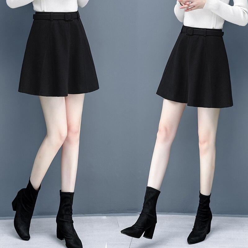 Moda feminina sexy saia curta preto elegante apertado inverno escritório saia cintura alta alta alta de alta qualidade saia jj60dq