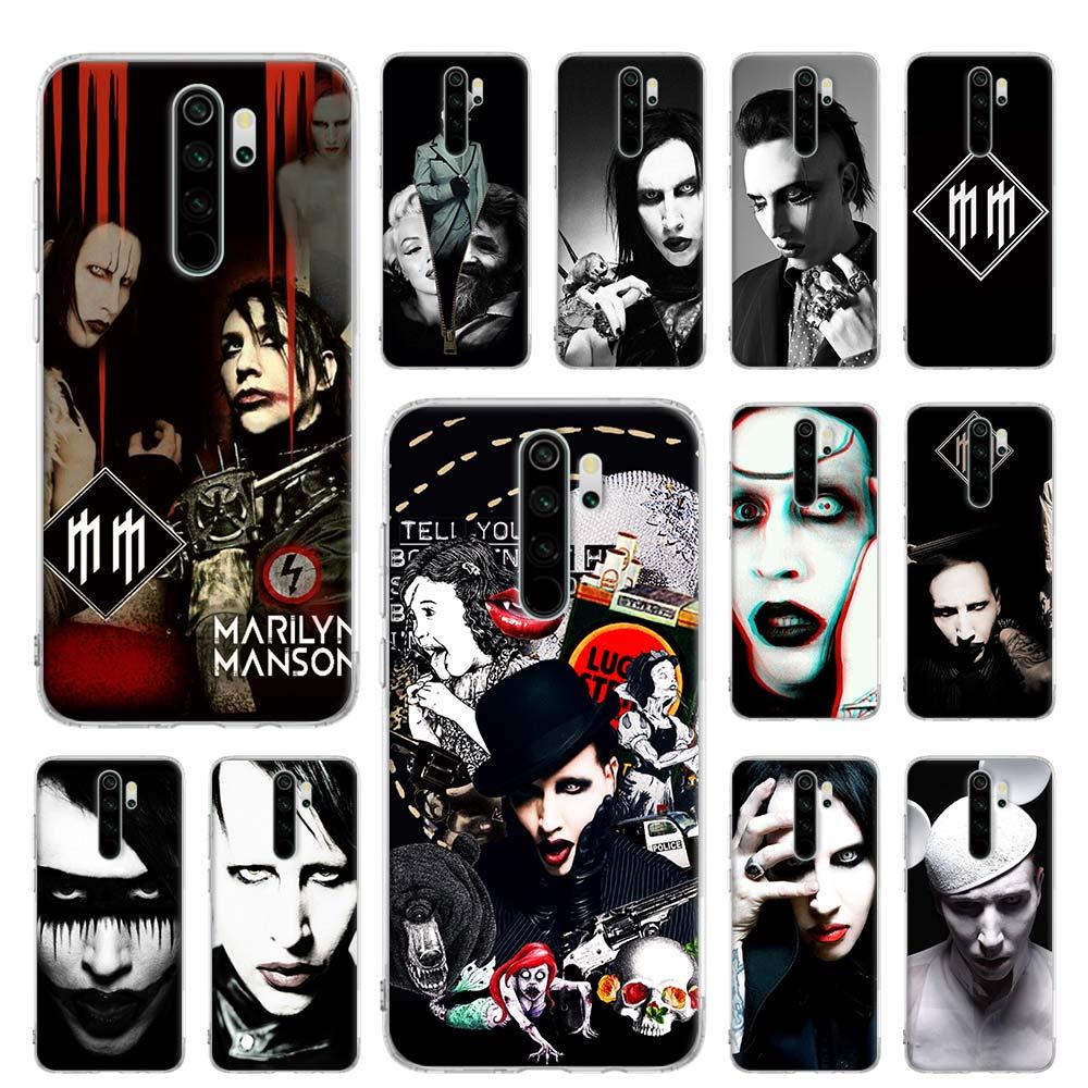 Силиконовый чехол для Xiaomi Redmi Note 7 8 Pro 6 6A 7A 8T K20 Pro Prime MI, чехол, Coque Marilyn Manson