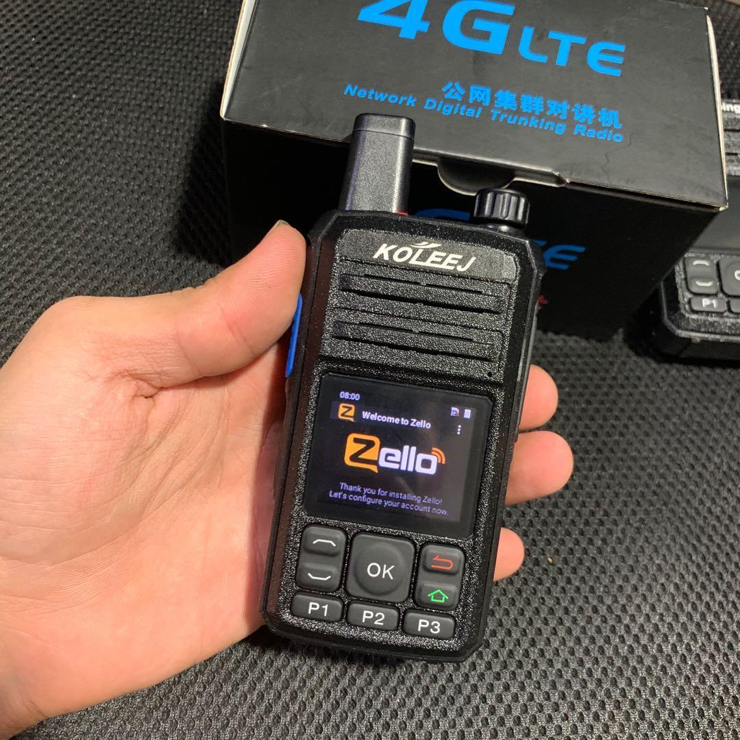 zello radio WIFI  walkie talkie 4G sim card wifi+bluetooth+GPS walkie talkie