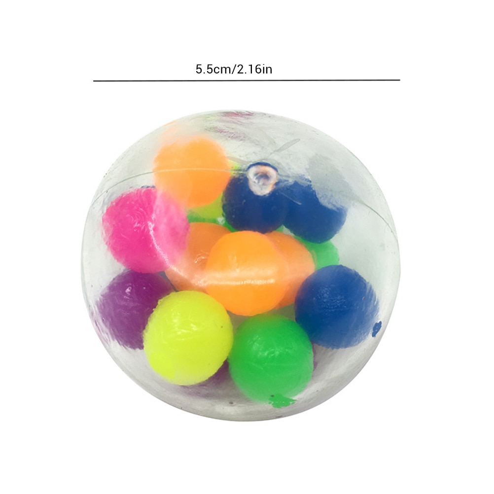 3pcs Clear Stress Balls Colorful Ball Autism Mood Squeeze Relief Healthy Toy Funny Gadget Vent Toy Children Gift 2021 New enlarge