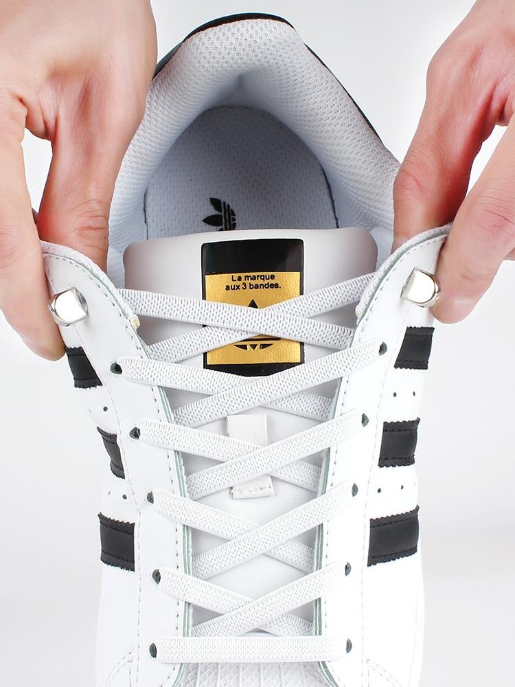 Плоские эластичные шнурки без завязывания, плоские шнурки для кроссовок, быстрая защитный шнурок, для детей и взрослых, аксессуары для лени...