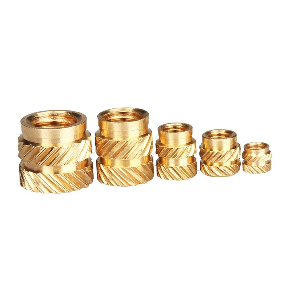 Écrous en laiton moletés, M2, M3, 100 pièces, écrous chauffés, moulage à chaud, écrous, fils de cuivre, écrous, livraison gratuite