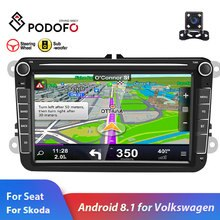 Podofo 2din autoradio Android 8.1 pour VW/Volkswagen/Golf/Polo/Passat/b7/b6/SEAT/leon/Skoda 8