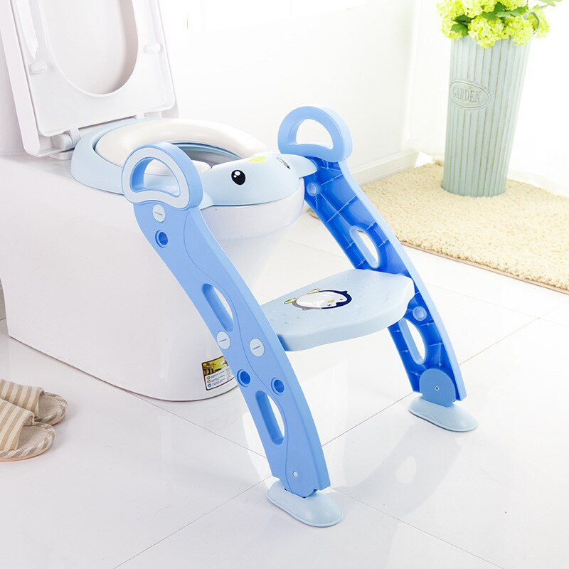 Potty Training Seat Baby Portable Toilet Child Soft Foldable Kids Toilets With Ladder