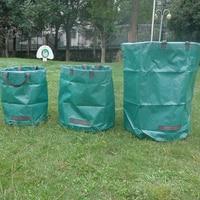 Вместительная садовая сумка, многоразовый мешок с листьями светильник Кая мусорная корзина, Складной садовый контейнер для сбора мусора, с...