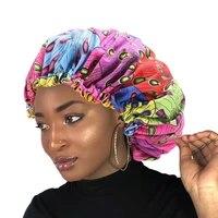 fashion silky big bonnet for women satin lined bonnets night sleep cap winter hat lady turban headwrap hat hair wrap accessories