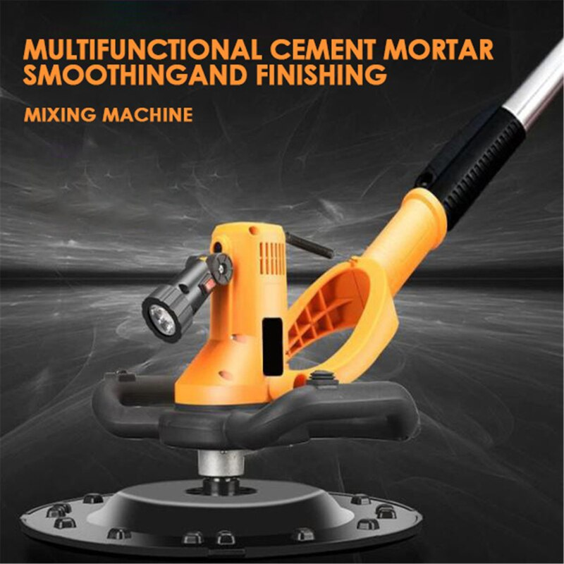 New 1700W Concrete Cement Mortar Trowel Wall Smoothing Machine Drill Mixer Djustable Speed Hand-held Electric Polishing Machine