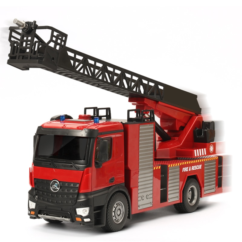 2020 version 22 channels 1/14 scale Huina 1561/1562 RC Fire Truck with ladder/water spray  7.4V 1200mAh for over 8 years old