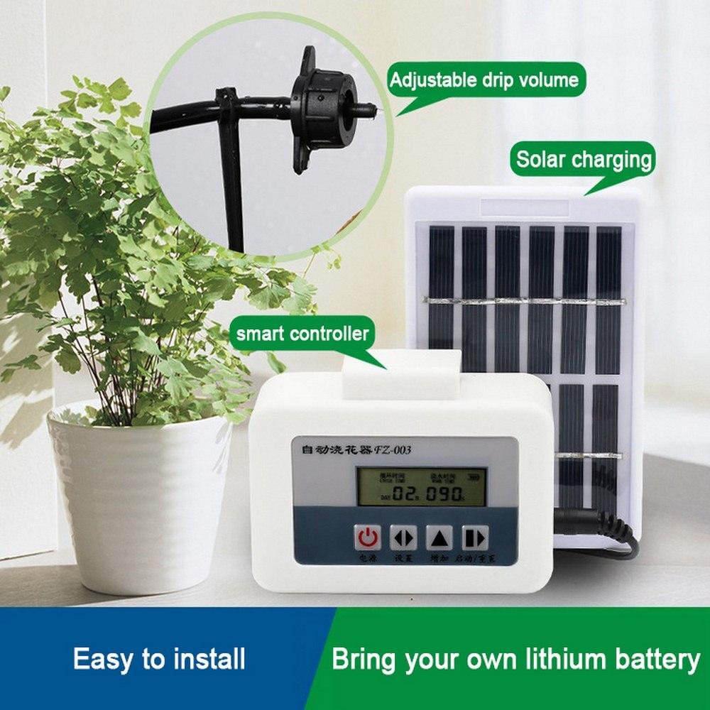 نظام توقيت مضخة المياه المحسن ، شحن الطاقة الشمسية ، ذكي ، للنباتات المحفوظة في وعاء ، الري بالتنقيط ، جهاز الري الأوتوماتيكي للحديقة
