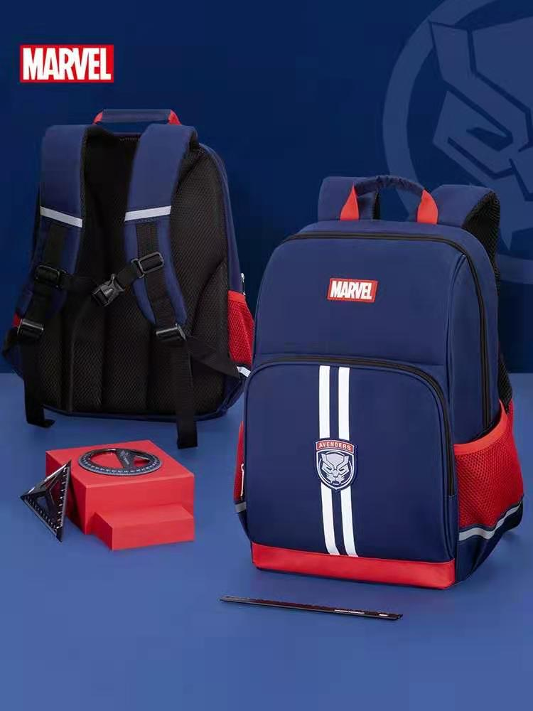 Disney Marvel School Bags For Boys Primary Student Shoulder Orthopedic Backpack Captain America Spider Man Grade 1-5 Mochilas