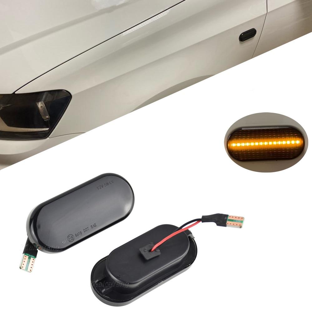 Luz Led de coche, indicador lateral dinámico, luces intermitentes secuenciales para Volkswagen VW Bora Golf 3 4 Passat 3BG Polo 6N