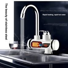 Hot Faucet Electric Water Heater Tap Digital Display Faucet Hot and Cold Dual-use for Kitchen and Ba