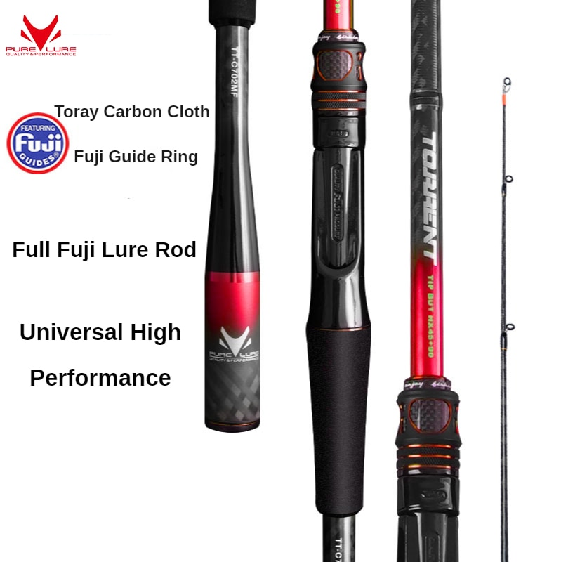 PURELURE All Fuji general lure rod high carbon long casting spinning and casting fishing rod and reel combo fast action enlarge
