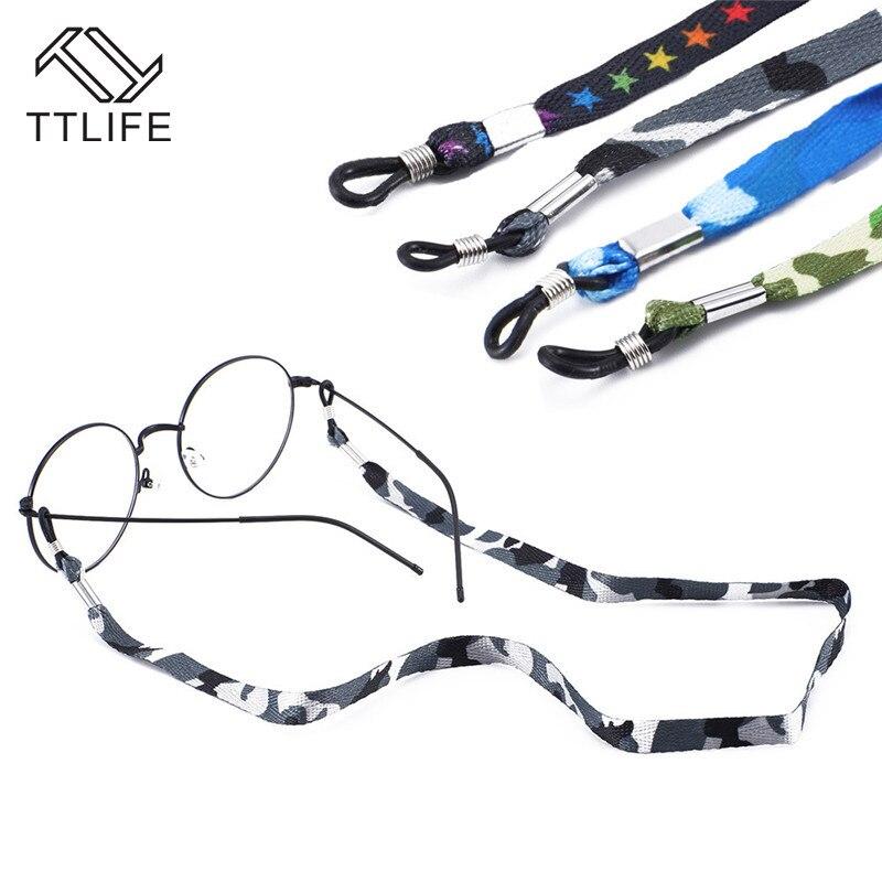 TTLIFE Cordón de camuflaje antideslizante gota gafas cadena correa de poliéster cuerda para hombre mujer gafas accesorios YJHH0339