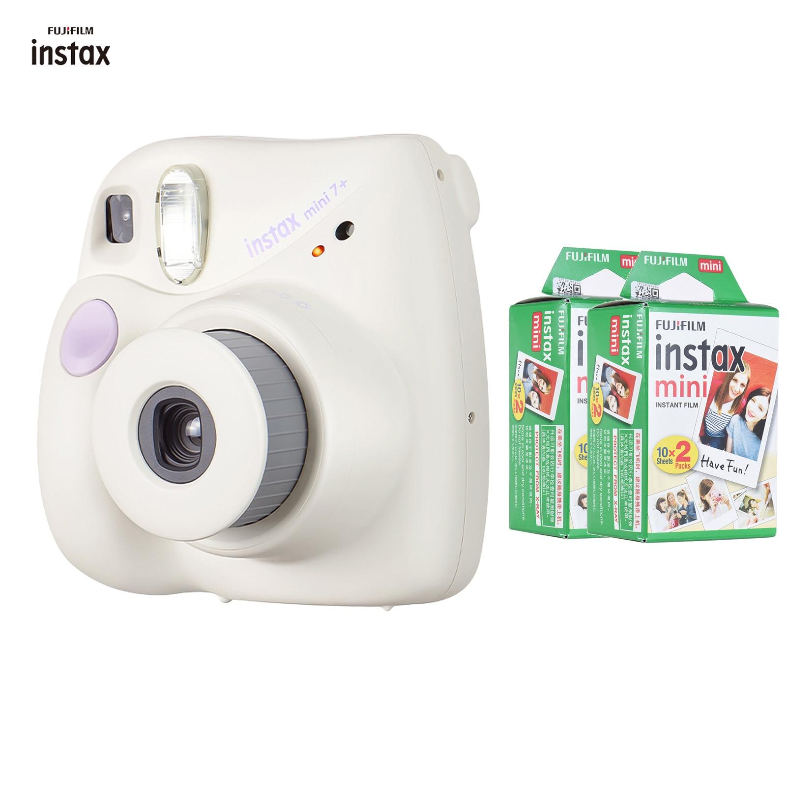 Fujifilm Instax Mini 7 + mini7 + كاميرا فورية فيلم كام التركيز التلقائي شريط للرسغ عيد الميلاد السنة الجديدة مهرجان هدية كما Mini 9 11
