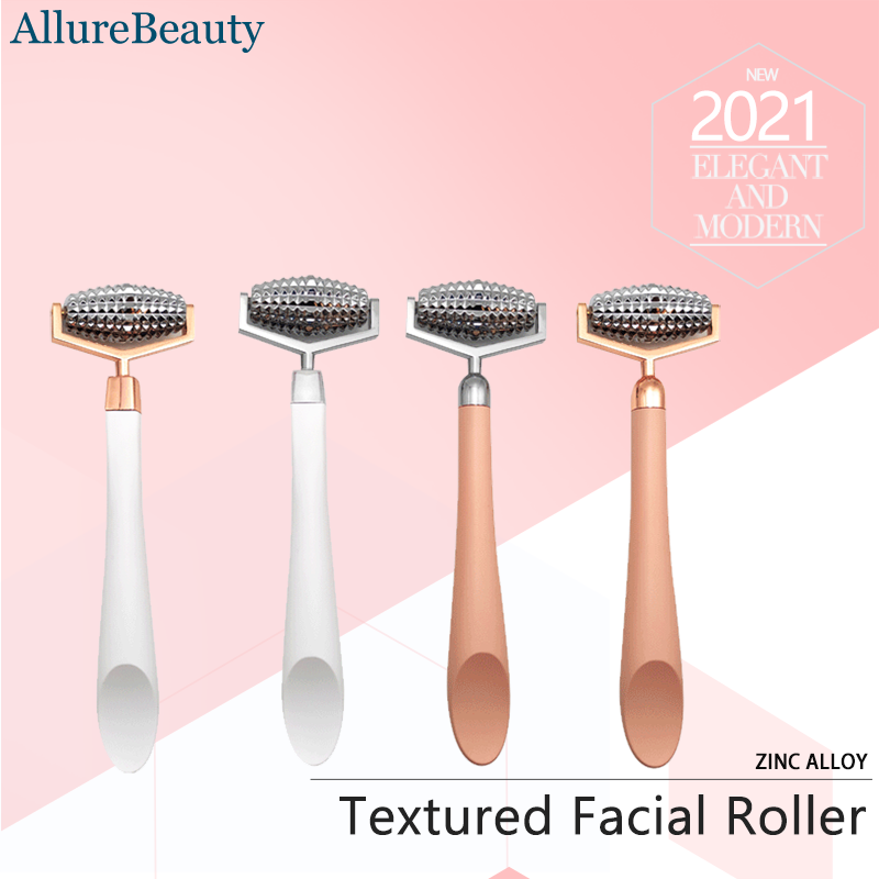 Textured Facial Roller, Face Tightening Firming Slimming Contouring Massager, Improving Skin Texture And Glow, Zinc alloy Head