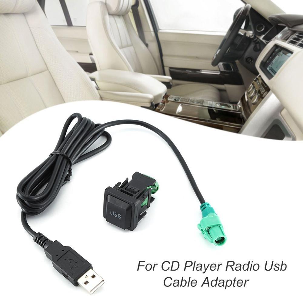 Bouton de commutation Usb adaptateur de câble Usb pour lecteur CD Radio adaptateur de câble Usb accessoires de Module sans fil de voiture