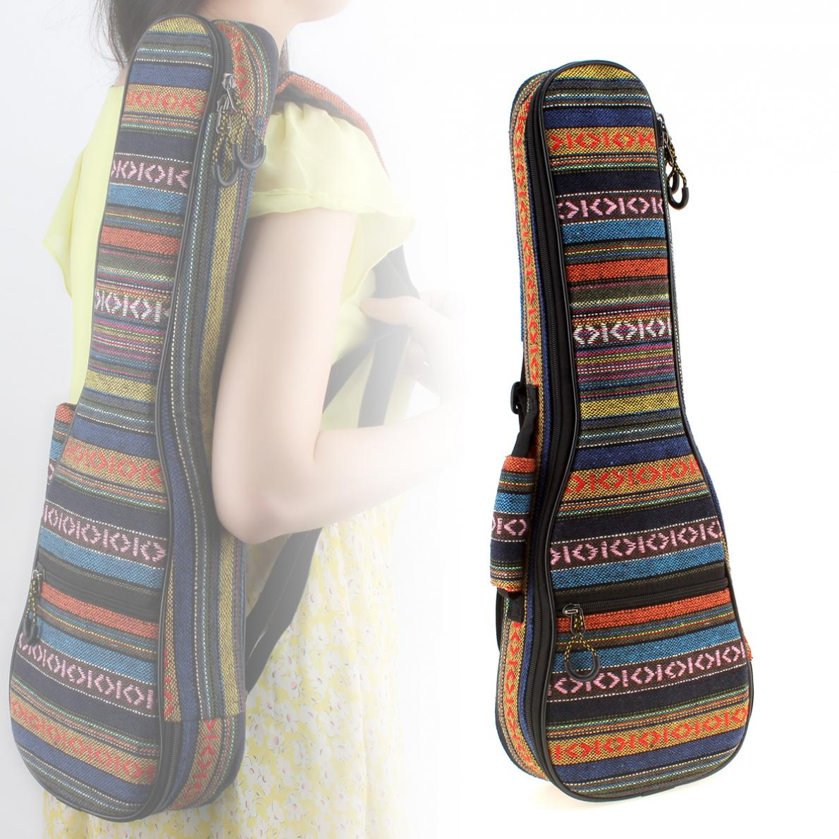 21 Inch /23 Inch Ukulele Backpack Small Guitar Hand Portable Bag Beautiful Soft Pad Cotton Thickening Folk Style Case Cover enlarge