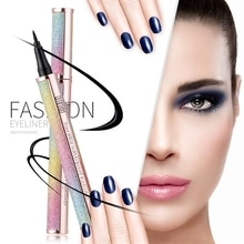 4D Starry Eyeliner Long-lasting Quick dry Not Smudging Fashion Black Eyeliner Liquid Pen Eye Liner W
