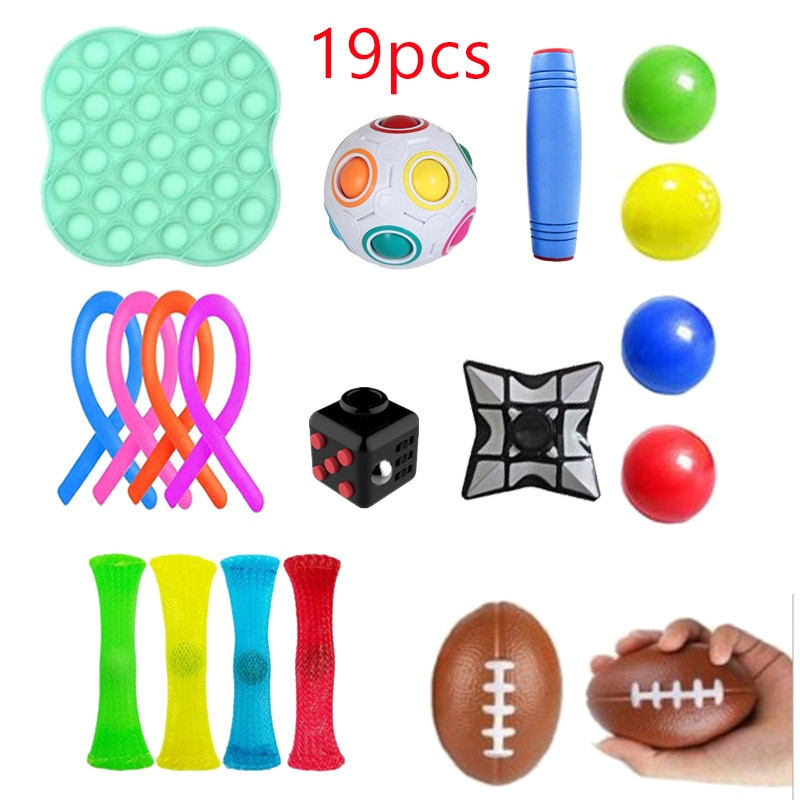 Figet Toys Anti Stress Toy Set Stretchy Strings Marble Relief Gift Adults Girl Children Sensory Antistress Relief Fidget Toys enlarge