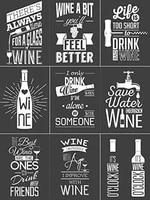 humourous wine poster funny art decor vintage aluminum retro metal tin sign painting decorative signs
