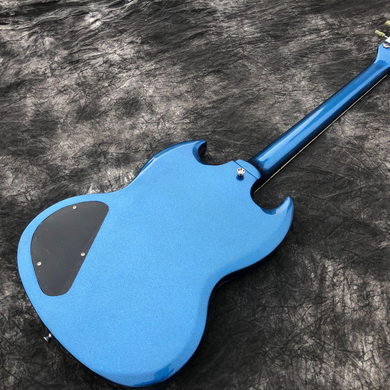 New standard Custom.blue color electric guitar.Rosewood fingerboard gitaar,handwork 6 Strings guitarra. enlarge