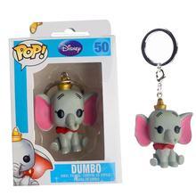 FUNKO POP Disney dessin animé mignon poche POP porte-clés Dumbo PVC figurine modèle de Collection jouets pour enfants cadeaux de noël