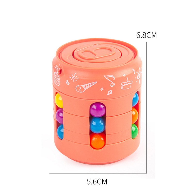 Cube Magic Puzzle Ball Little Magic Bean Pop Can Professional Educational Toys Anti-stress Fingertip Spinning   Fidget Toys enlarge