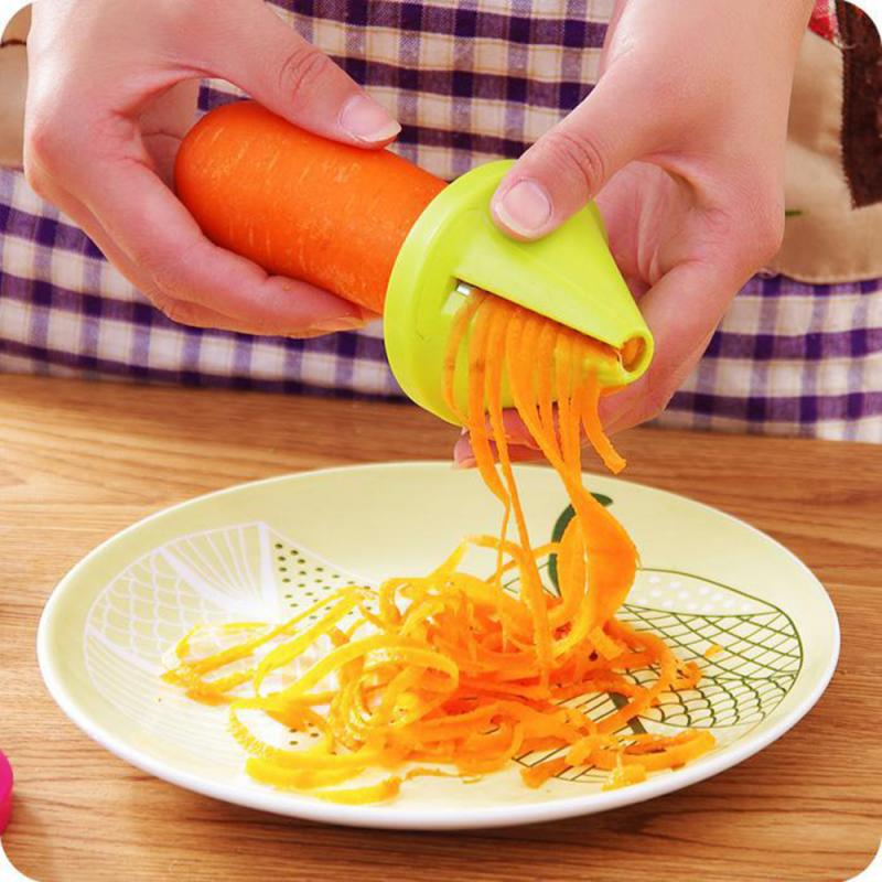 Vegetable Spiral Slicer Carrot cucumber Cutter Grater vegetable spiralizer Shred Device Slicer Kitchen cooking Tool Gadget