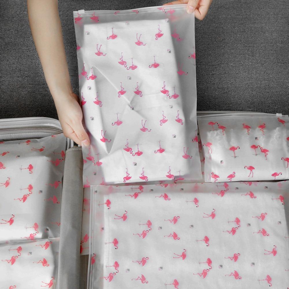 Transparent Cosmetic Bag Flamingo Travel Makeup Case Women Zipper Make Up Bath Organizer Storage Pou