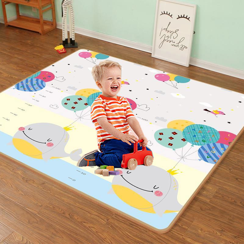 baby developing mat for newborn non toxic soft xpe foam baby climbing pad foldable activity gym for children playground kids rug Xpe 200*180cm Foldable Cartoon Baby Play Mat Puzzle Children's Mat Baby Climbing Pad Kids Rug Baby Games Mats Toys for Children