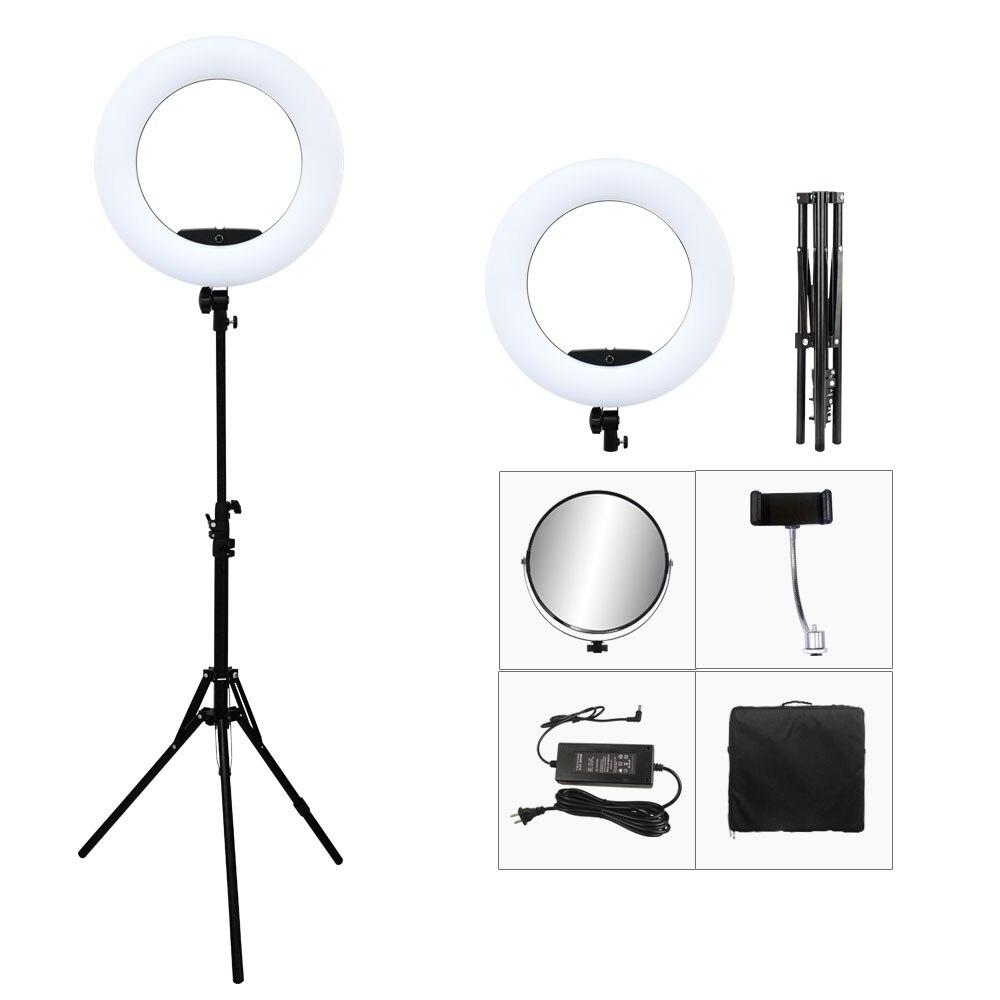 """96 w yidoblo FD-480II 18 """"led anel kit lâmpada 480 led quente & frio ajustar luz lâmpada iluminação fotográfica + suporte (2 m) + saco macio"""