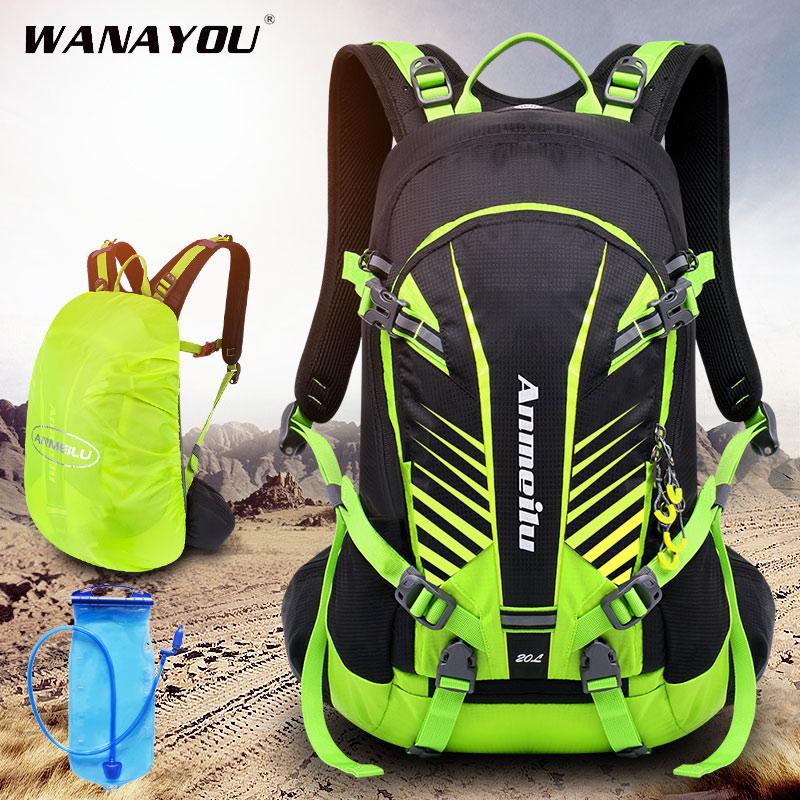 Sac à dos de randonnée imperméable 20L, sac à dos dhydratation de cyclisme pour hommes réfléchissant de nuit, sac à dos de Camping en plein air pour hommes avec housse de pluie