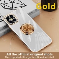 %e3%80%90gold%e3%80%91iphone series mobile phone case 12 11pro 87 xs electroplated protective sleeve magnetic suction car bracket ring