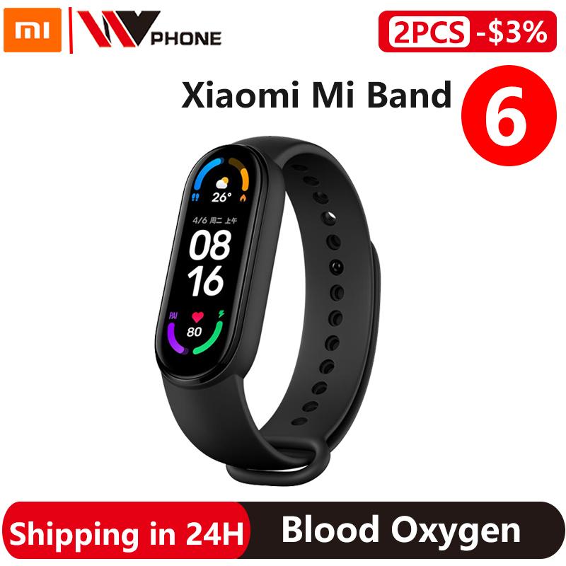 Xiaomi Mi Band 6 Smart Bracelet 5 Color AMOLED Screen Miband 6 Blood Oxygen Fitness Traker Bluetooth Waterproof Smart Band