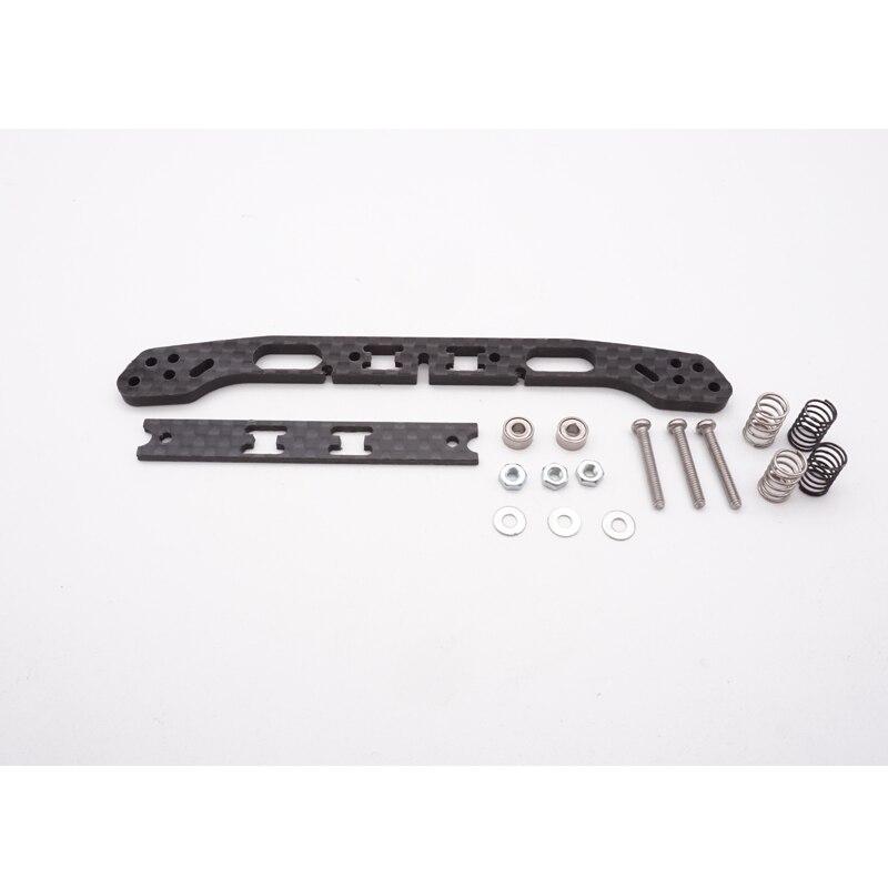 1,5mm/3mm cojinete delantero de fibra de carbono conjunto de muelles dobles deslizantes para MS MA AR VS S2 chasis auto-hecho tamiya mini 4wd parte