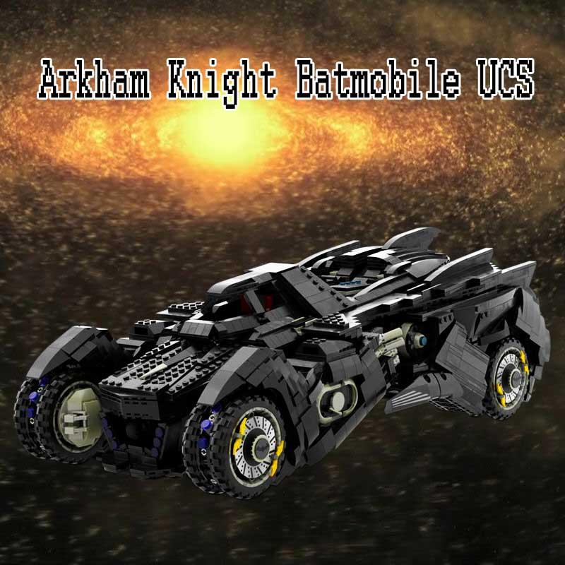 Arkham فارس Batmobile UCS فني نموذج بنة خبير الخالق خارقة بناء الالعاب العملاقة للأطفال هدية