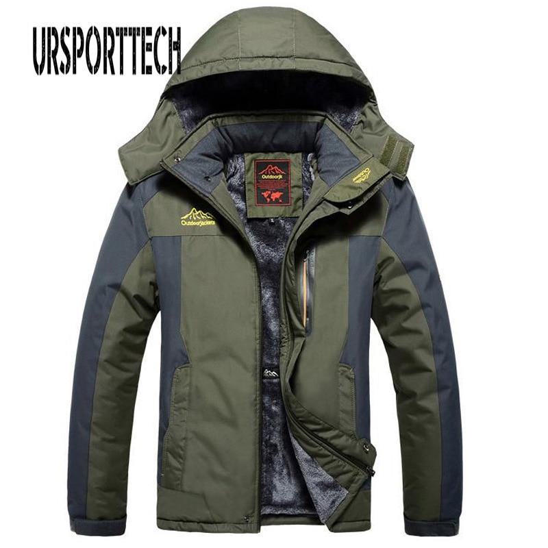 Флисовая куртка в стиле милитари, Мужская ветрозащитная Водонепроницаемая парка, Мужская ветровка, теплый дождевик, пальто в стиле оверсай...