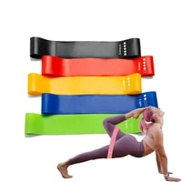 fitness gum elastic rubber belts for yoga workout equipment training exercise gym strength latex or tpe resistance bands sets