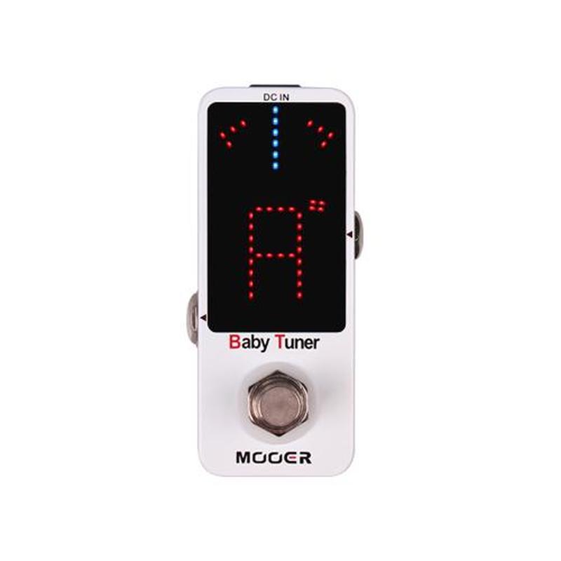 Mooer Baby Tuner Mini de alta precisión sintonizador de guitarra Pedal Bypass verdadero de la carcasa de Metal pantalla LED