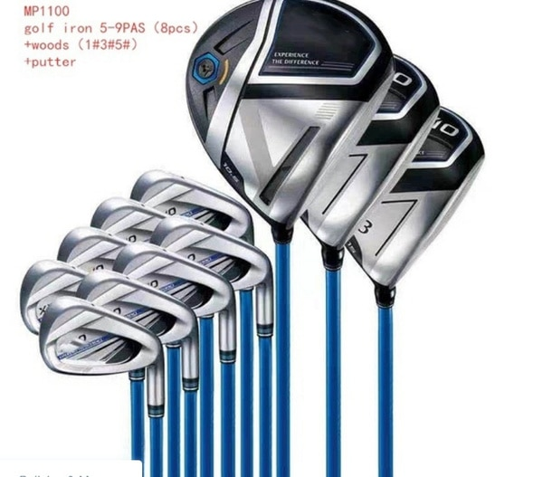 Men's Golf Clubs Full Set of MP1100 Golf Club Set + Fairway Wood + Irons + Putter (12Pcs) Graphite Shaft R/SR/S (No Golf Bag)