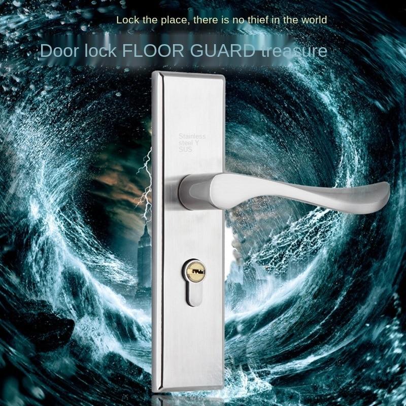 قفل لوحة داخلية من الفولاذ المقاوم للصدأ ، مقبض ، لسان مزدوج ، رسم سلكي