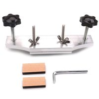 Metal Guitar Bridge Clamp Stainless Steel Guitar Bridge Binding Tools For Luthiers With 2 Pcs Wood Guitar Part Accessory