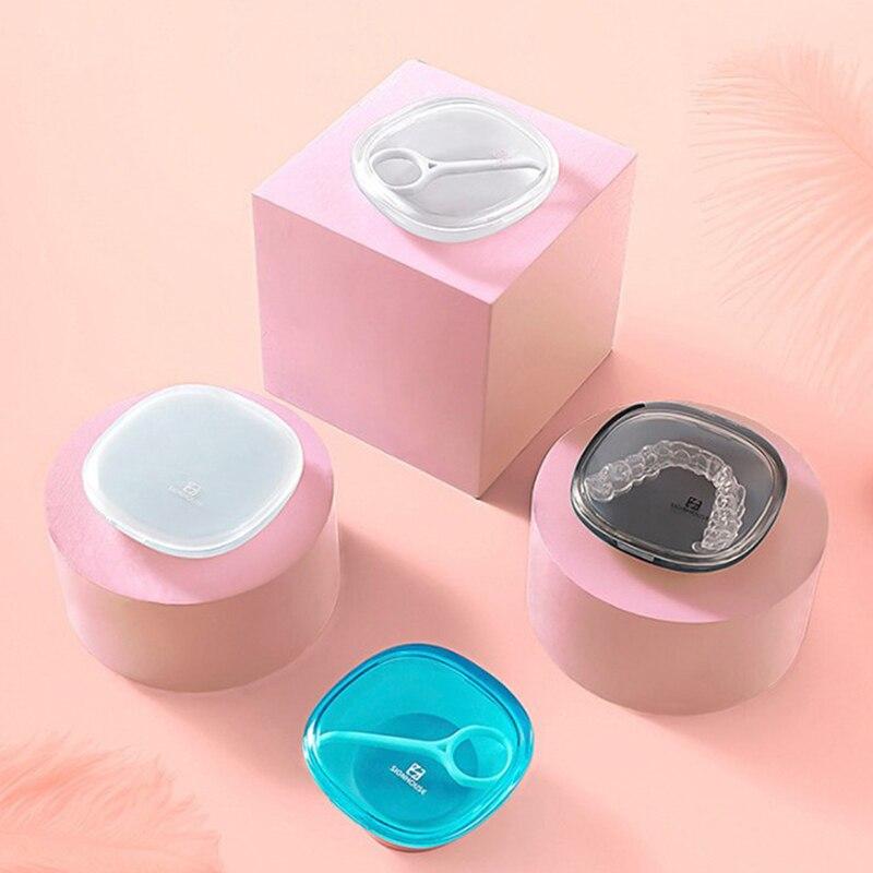 Для хранения протеза контейнер держатель невидимые брекеты коробка ортодонтическое зубной фиксатор коробка