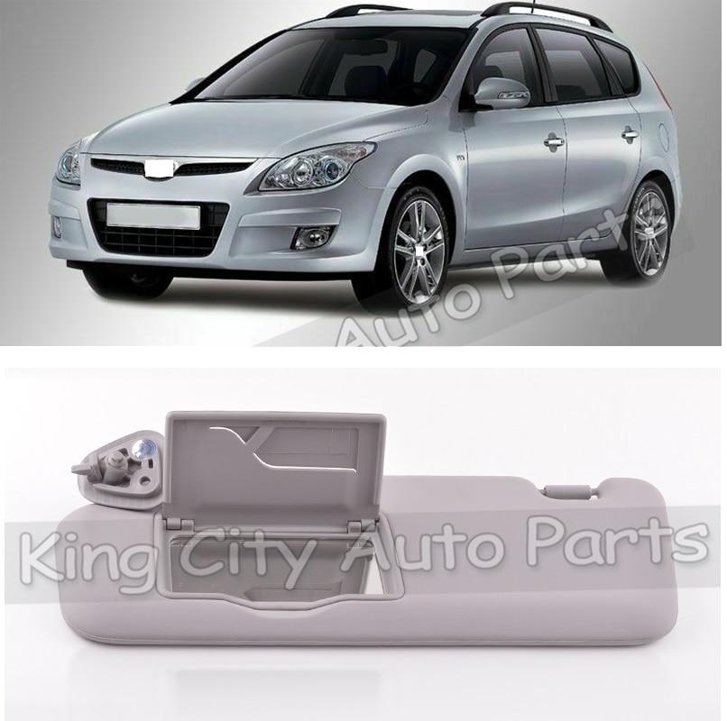 Capqx frente pára-sol viseira para hyundai i30 i30cw 2008 2009 2010 2011 para i30 fd 2007-2012 sunvisor protetor solar com espelho